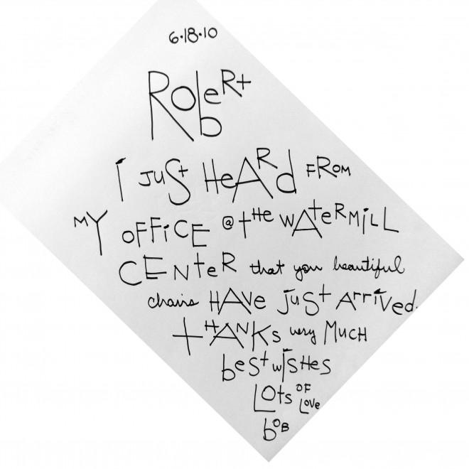 Bob Wilson's Letter